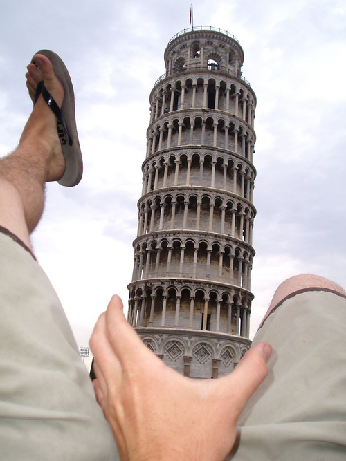 Perfect Tourist Shot Leaning Tower Penis