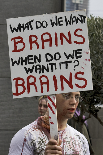 What do we want, Brains!