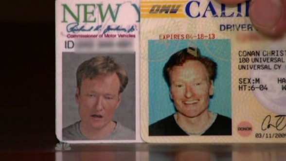 Conan OBrien Drivers License