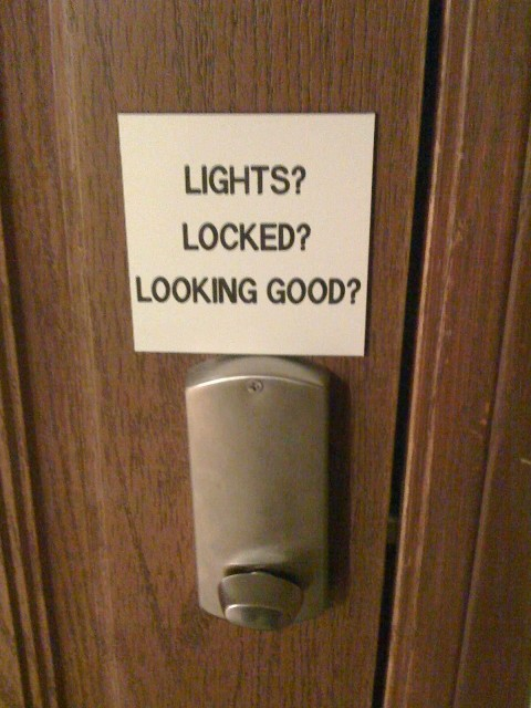 Lights? Locked? Looking Good? Check Check Check