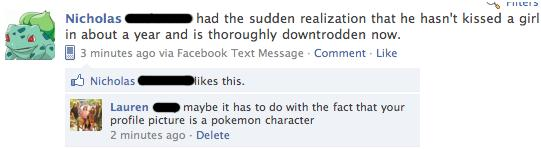 Facebook Pokemon Kiss Girl
