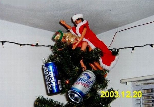 Redneck Beer Christmas Tree Barbie