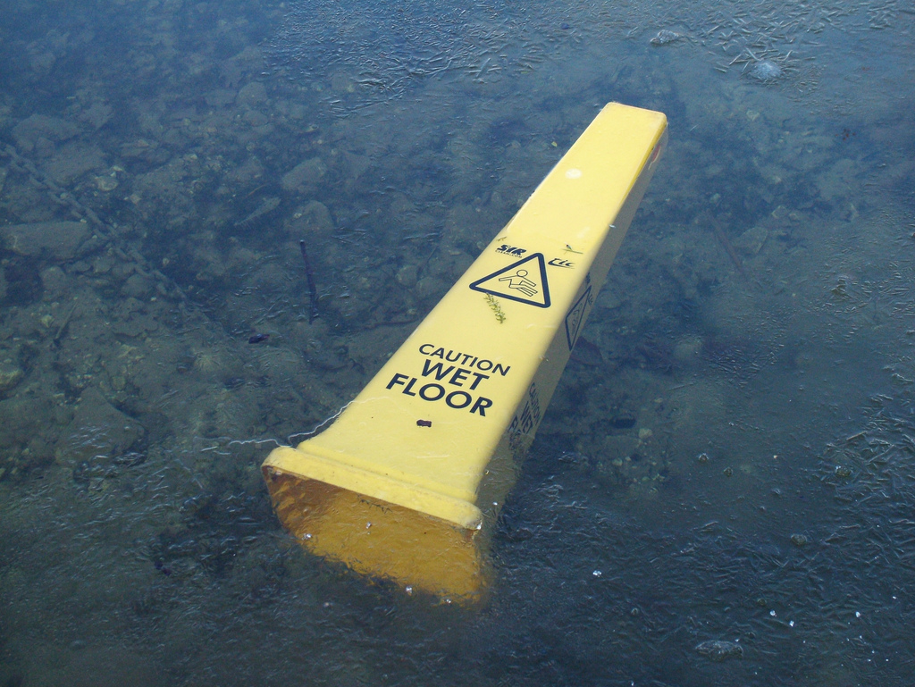 Caution Wet Floor Sign Floating