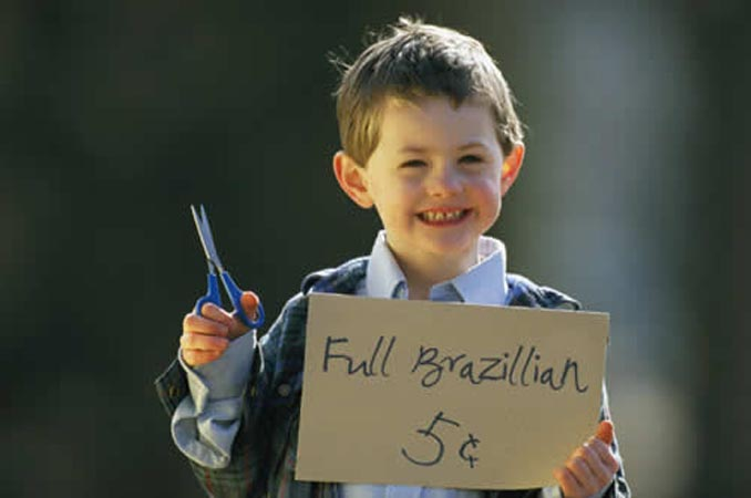 Little Kid Right Idea Sign Full Brazillian