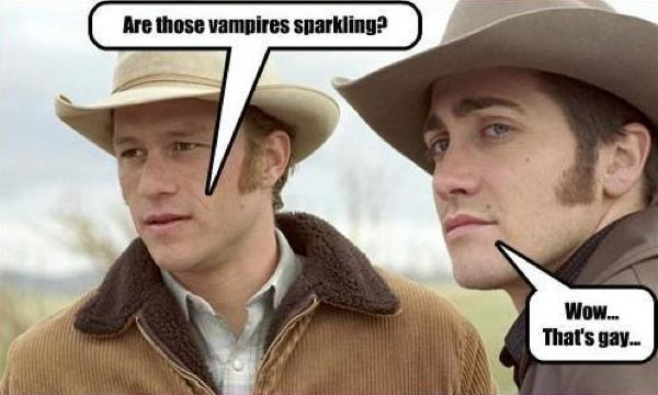 Brokeback Calls Twilight Gay