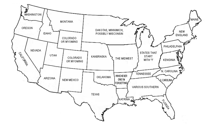 US Map Geography Forgetful