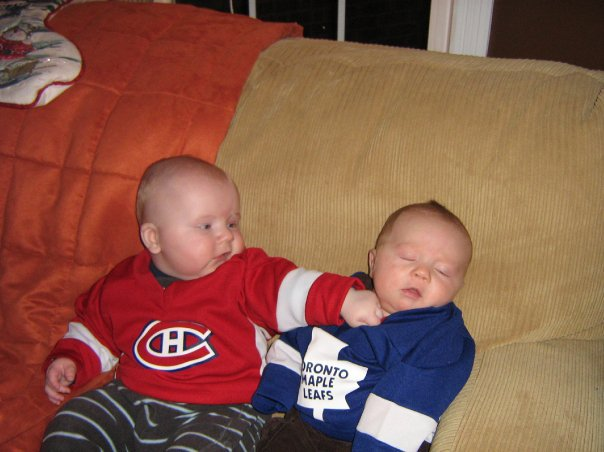 Hockey Baby Punches Other Baby