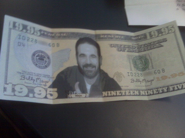 Billy Mays Nineteen Ninety Five Dollar Bill