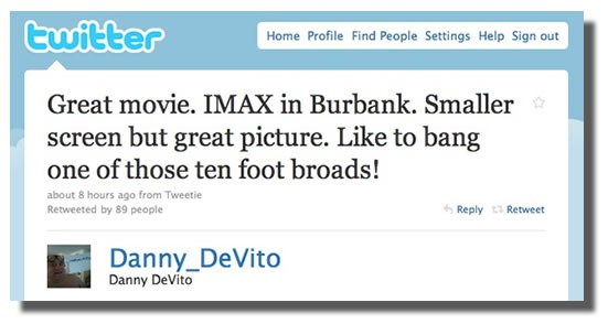Danny Devito Tweets About Avatar Broads