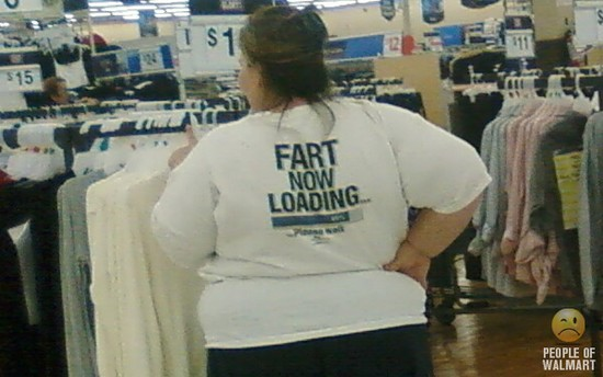 Fat Girls Tshirt says Fart Now Loading