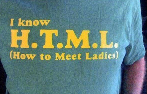 H-T-M-L HTML How To Meet The Ladies TShirt T-shirt