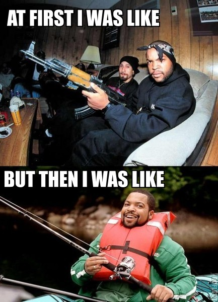 Ice Cube Ak47 Fishing Pole