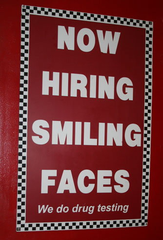 Now Hiring Smiling Faces