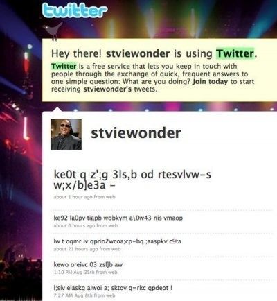 Stevie Wonder Is Now Using Twitter