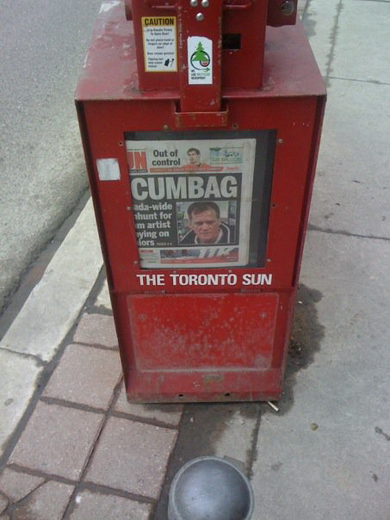 Canadian Newspapers Can Be Rough