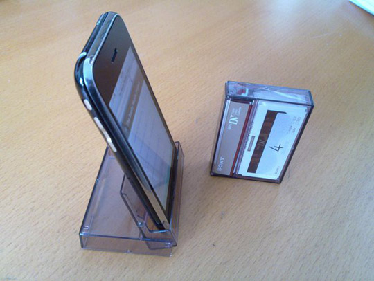 Iphone Fits Perfectly In Cassette Tape Case