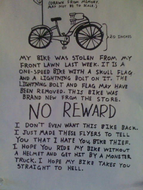 No Reward Bike Straight To Hell