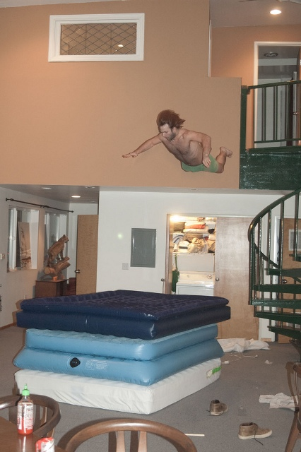 Air Mattress Balcony Jump