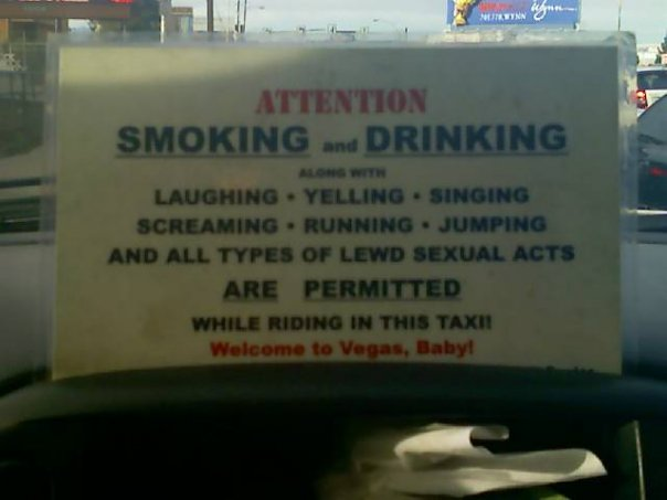 Welcome to Vegas Taxi Sign