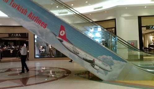 Turkish Airline Advertisement Escalator