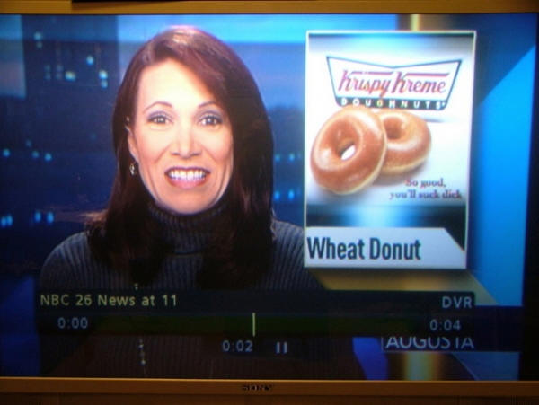 Krispy Kreme News Anchor So Good Youll Suck
