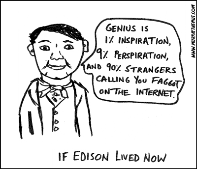 If Edison Lived Today Cartoon