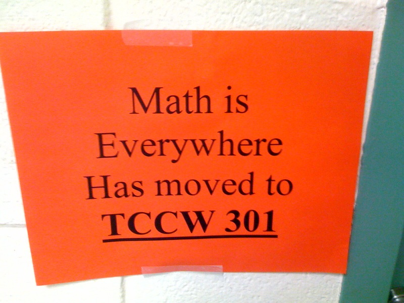 math is almost everywhere sign moved