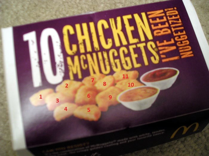 Mcdonalds 10 Piece Box Shows 11 nuggets