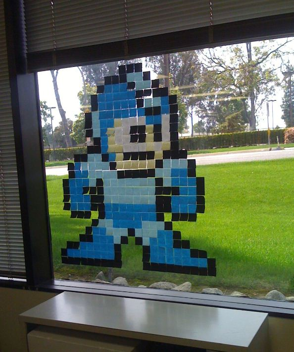 Bored at Work Post It Notes Megaman