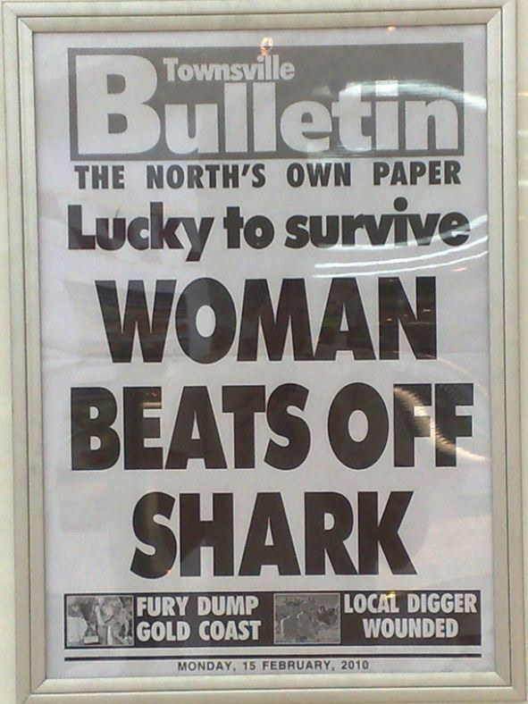 Women Beats Off Shark