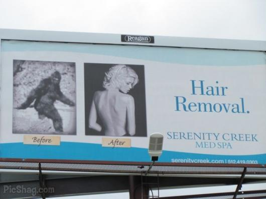 Hair Removal Bill Board Big Foot Model