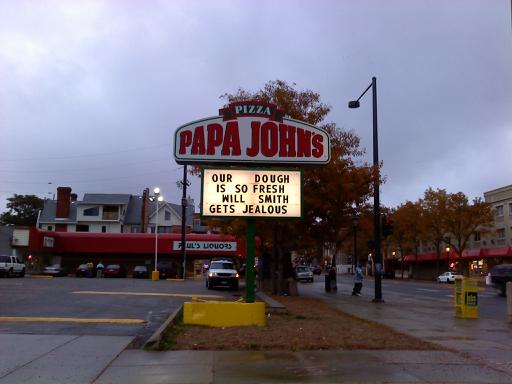 will smith jealous sign papa johns