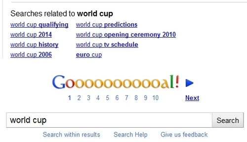 Google World Cup Easter Egg