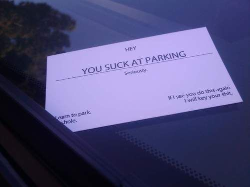 Hey You Suck At Parking Card