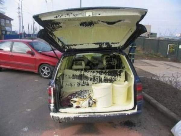 Nice Driving Paint in the Trunk