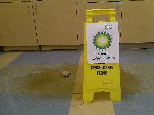 we're on it bp coke spill sign