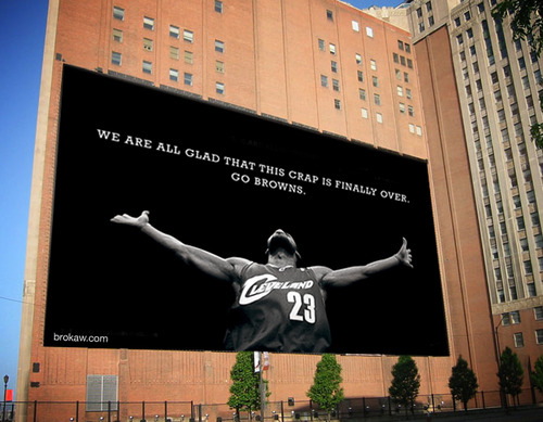 Billboard Lebron James Go Browns