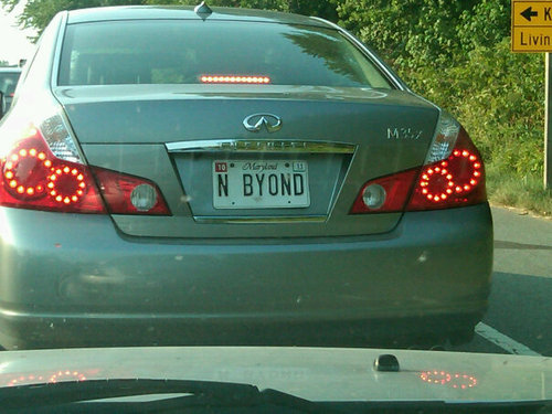 to infinity and beyond license plate car