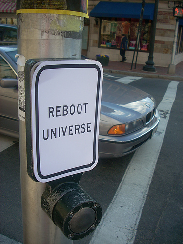 Reboot Universe Sign