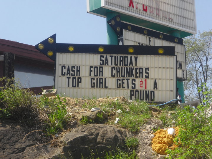 Cash For Chunkers Sign Dollar a Pound