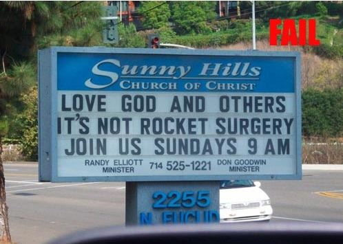 Church Sign Its Not Rocket Surgery