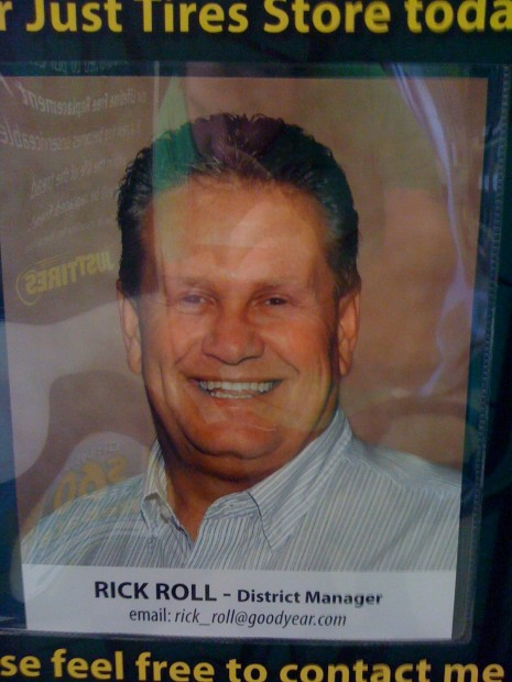 Rick Roll Employee of the Month