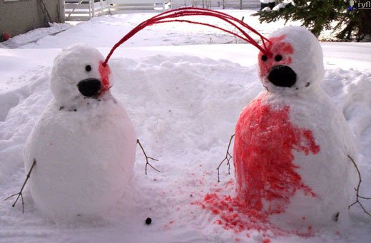 Crazy Snowman Bloody Eye