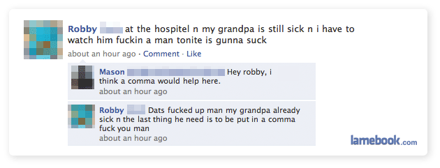 Comma Grandpa Facebook