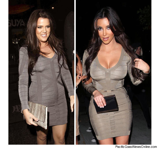 Khloe Kim Same Dress Twins