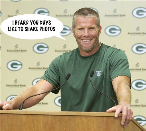 Brett Favre Likes to Share Photos