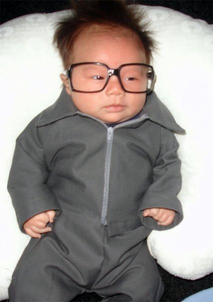 Baby Dressed Like Kim Jong-Il