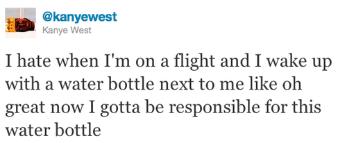 great responsibility kanye twitter water bottle