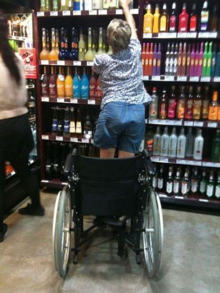its a miracle alcohol wheel chair