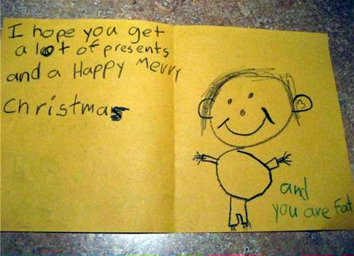 Christmas Card You Are Fat